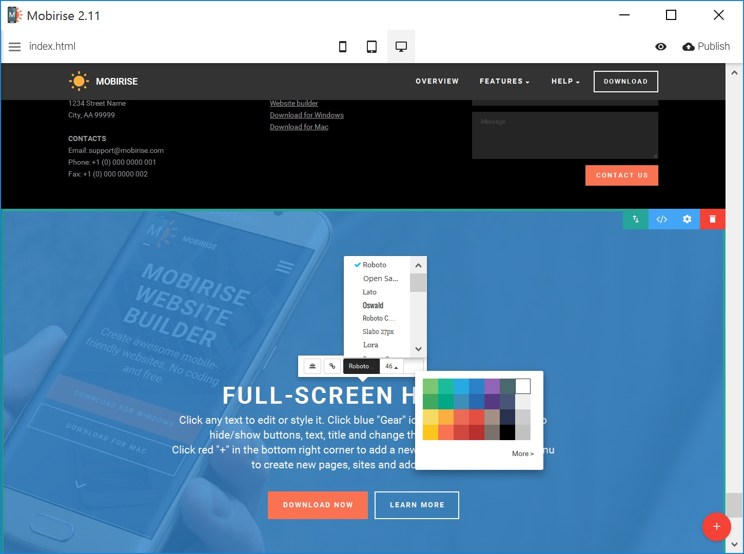 Responsive Web Page  Creator Review