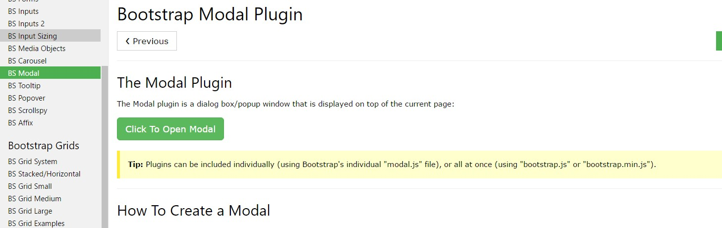 Bootstrap modal  guide