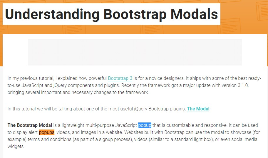 Another  handy  content  regarding Bootstrap Modal Popup