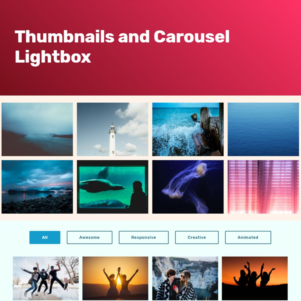 CSS3 Bootstrap Picture Slideshow